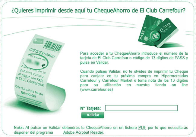 comprar cheque amazon en carrefour