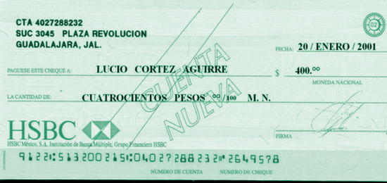 cheque nominativo